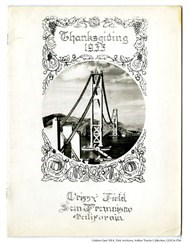 GOGA-1766 Arthur Traxler Collection Crissy Field Thanksgiving Menu 1935 Cover