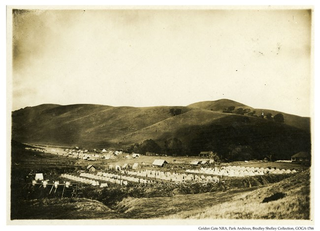 GOGA-1766 Bradley Shelley Collection Troop Encampment Fort Barry 1920s