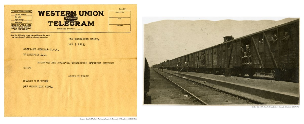 GOGA-1766 Lorin H Tryon, Jr Collection 316th Supply Train & Telegram