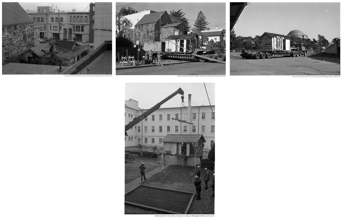 GOGA-1766 Presidio Army Museum Photograph Collection EQ Cottage moving collage