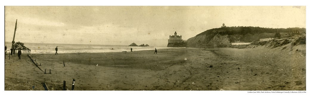 GOGA-1766 Viola Grilnberger Connelly Collection Ocean Beach & Victorian Cliff House Photograph