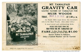 Muir Woods gravity car ticket