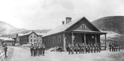Fort Baker soldiers at post guard house