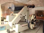 "photo of a 32-pounder ""James Banded"" gun"