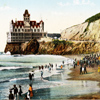 historic image of Ocean Beach and Cliff House