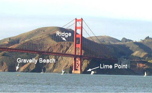 photo of the original location for Lime Point in the Marin Headlands