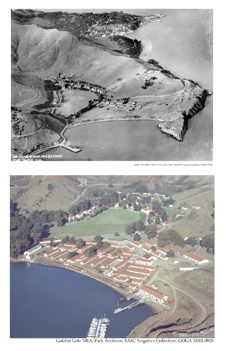 Fort Baker 1925 and  1978