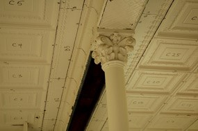 historic ceilings individually numbered