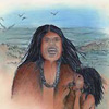 illustration of Native American mother and child