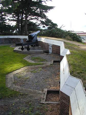 Photo of West Battery at Point San Jose, now Fort Mason