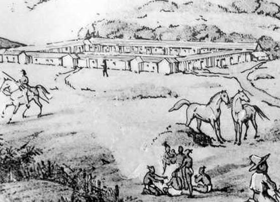 Early Drawing Of Presidio Of San Francisco