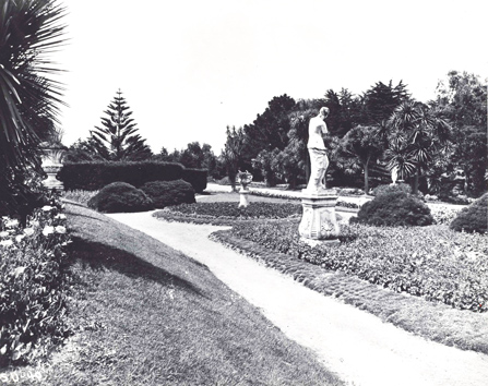 historic image of Sutro Heights decorative pathway
