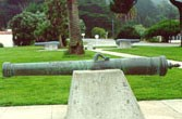 Photo of the San Francisco cannon located at the Presidio