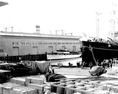 US Army transport ship at Port of Embarkation
