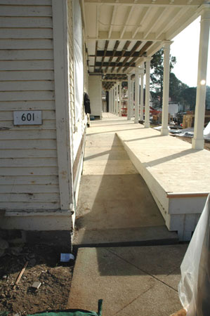 new ADA ramp on the front porch