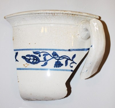 fragment of a historic chamber pot
