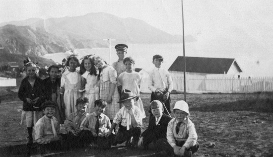 Army children at Bonita Cove