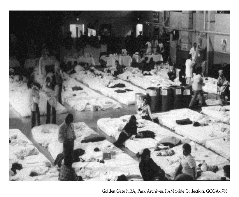 Interior of Harmon Hall during Operation Babylift