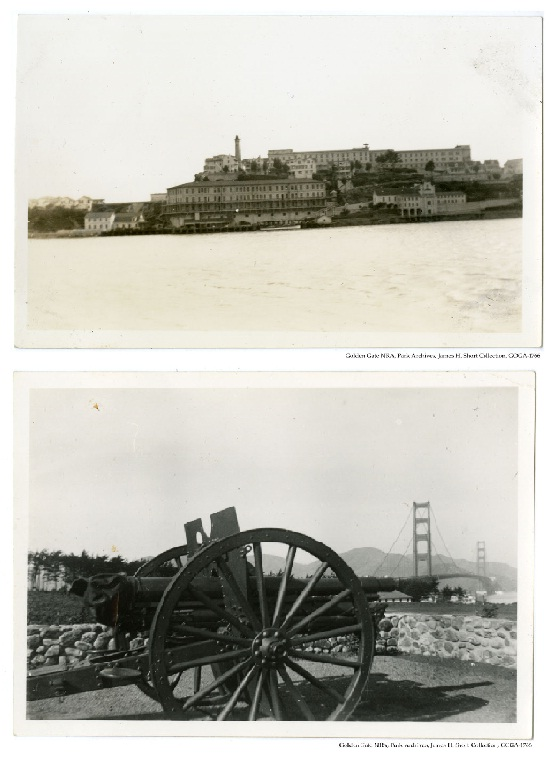 GOGA-1766 James H Short Collection Photograph of Alcatraz Island & cannon