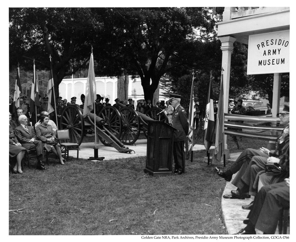 GOGA-1766 Presidio Army Museum Photograph Collection PAM Dedication Ceremony