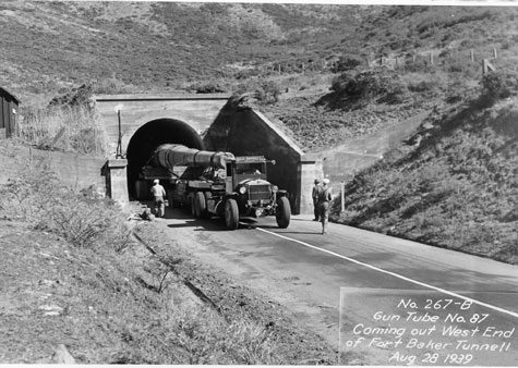 historic photo of gun coming through tunnel