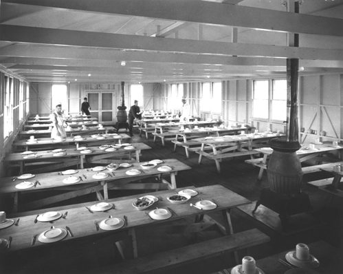 photo of WWII mess hall