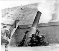 photo of gun firing
