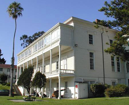 Photo of the original Presidio Hospital, constructed in 1864