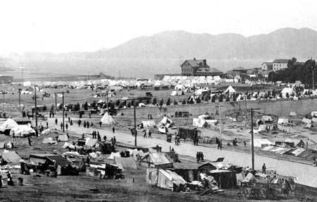 1906 earthquake refugee camp at Fort Mason