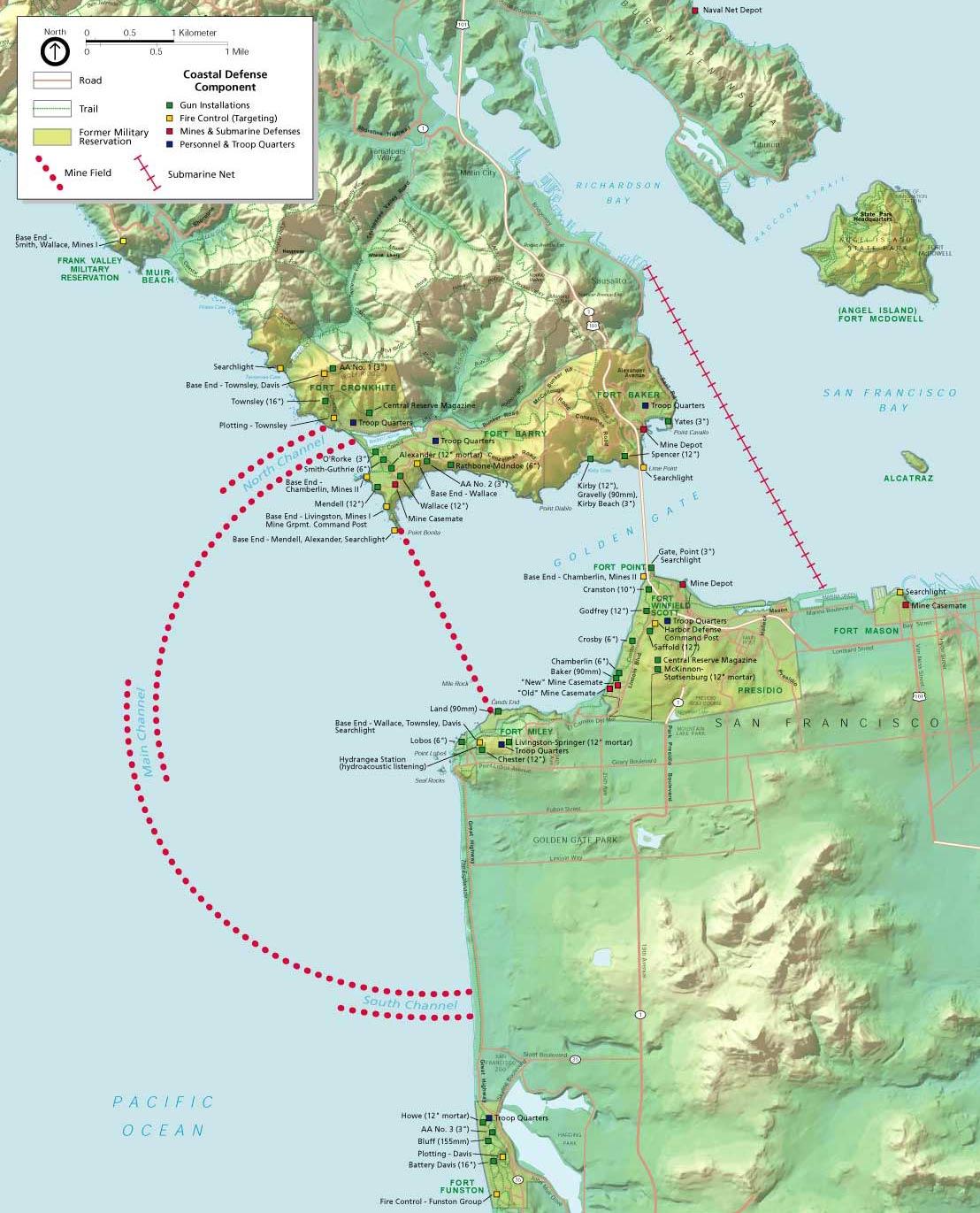 World War II Harbor Defenses Golden Gate National Recreation Area