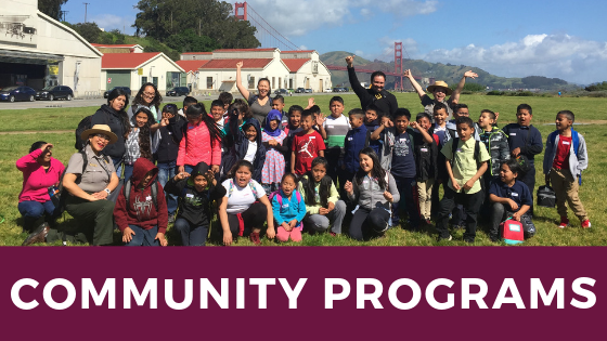 community group gathered for a photo at crissy field airfield