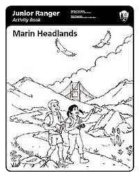 Illustration: Junior Ranger Activity Book—Marin Headlands