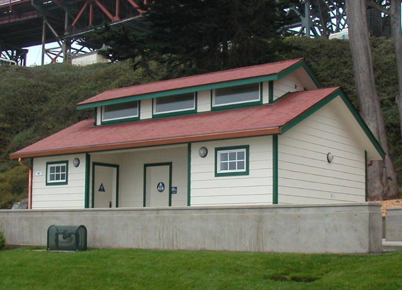 New restroom constructed at Fort Point. Your Dollars At Work   Visitor Facilities   Golden Gate National