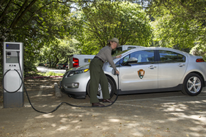 An electric vehicle charger at Muir Woods