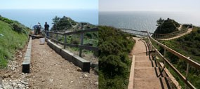 New Stairs Built at Muir Beach Overlook.