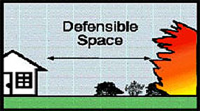 Create defensible space around your home by removing or breaking up vegetation.