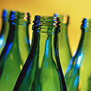 Image of green glass bottles.