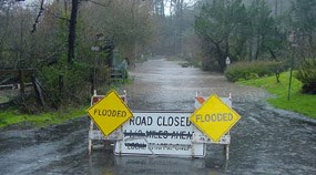 Flooding near Muir Beach due to degradation of the Redwood Creek watershed