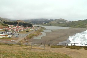 Watershed of Rodeo Lagoon in the Marin Headlands