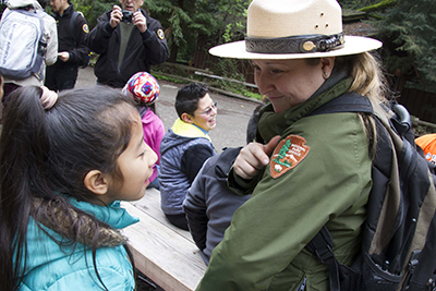 student and park ranger