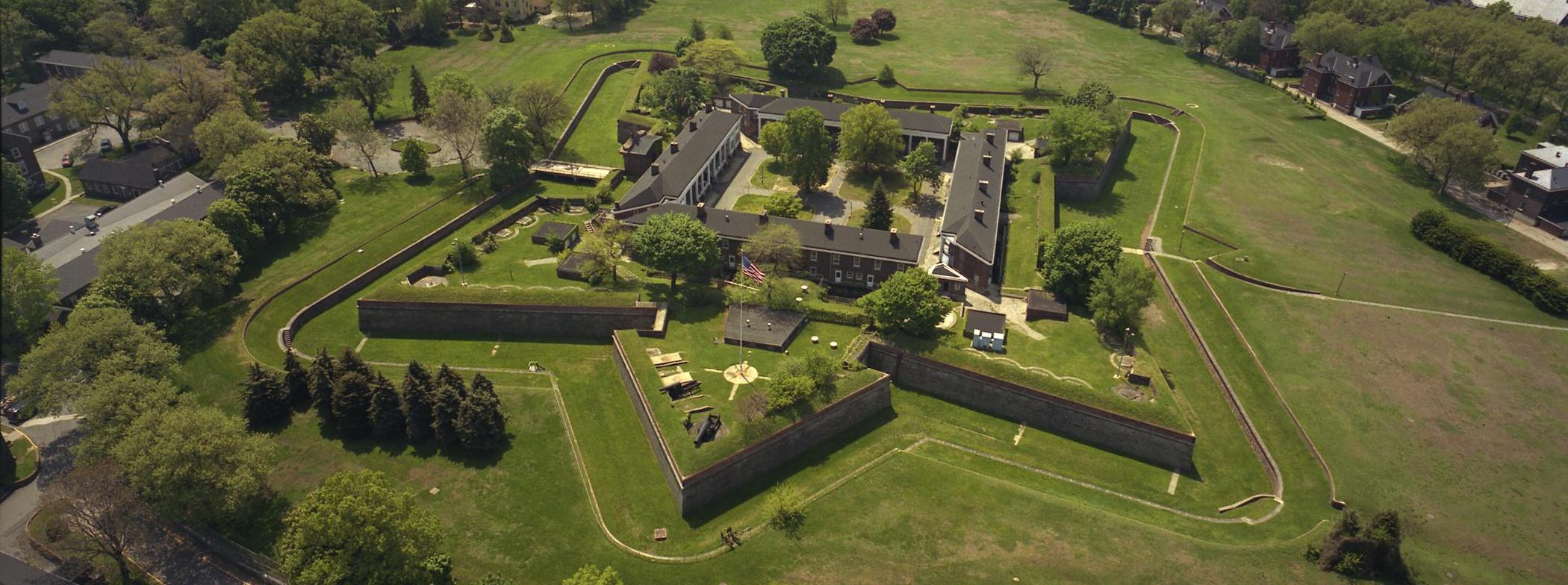 Aerial View of Fort Jay