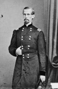 A photo portrait of Union Colonel Michael Corcoran in his US Army uniform.