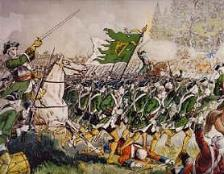 The French military's Irish Brigade at the Battle of Fontenoy in 1745.