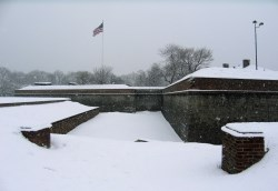 Fort Jay in Winter