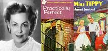 Author Janet Lambert and books she wrote while living on Governors Island.