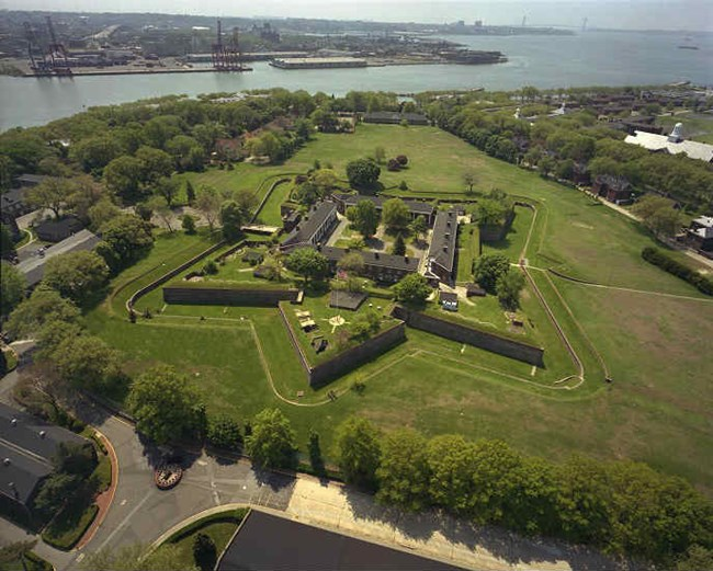 Aerial of Fort Jay