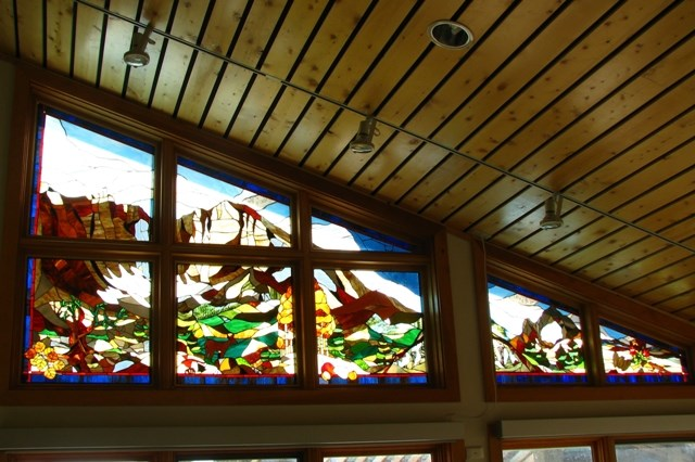 Stained Glass window installed in Visitor Center