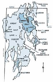 Map of the Great Salt Lake Desert and old Lake Bonneville