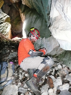 Researchers in GRBA caves