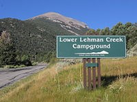 Lower Lehman Creek Campground sign